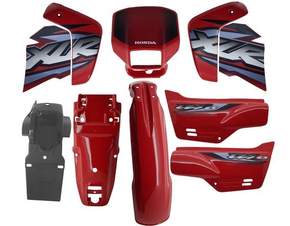 Kit Carenagem Adesivada Xlr 125 Vermelha 2002 - 8 Peças
