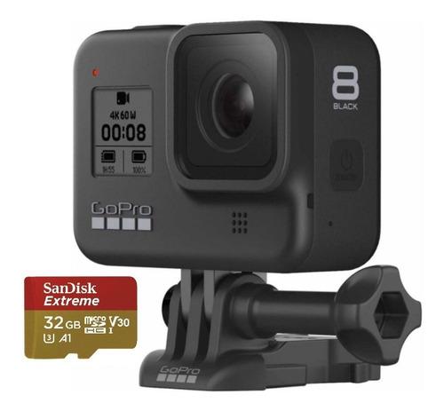 Câmera Gopro Hero 8 Black 12 Mp 4 K+sandisk Extreme 32 Gb