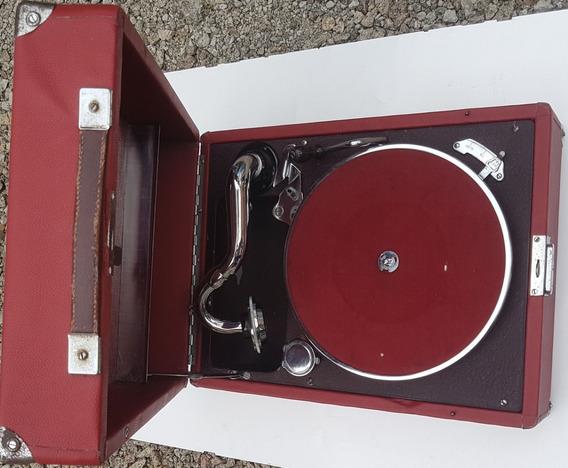 Gramofone Antigo Marca Paillard Movido A Corda 1928