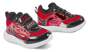 Tenis Sneaker Cklass Niños Cars Textil Contac Rojo 84108 Dtt