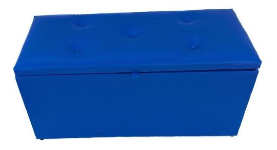 Puff Pufe Bau Retangular Baú Decorativo Sofa 90 X 40 X 45 Cm