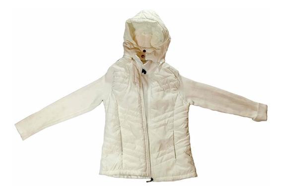 Jaqueta Feminina Branca Alaniz Forrada Moda Fashion Inverno