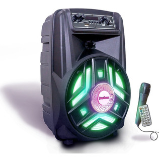 Parlante Portatil Bluetooth 1500w Control Remoto Luz Led Mic