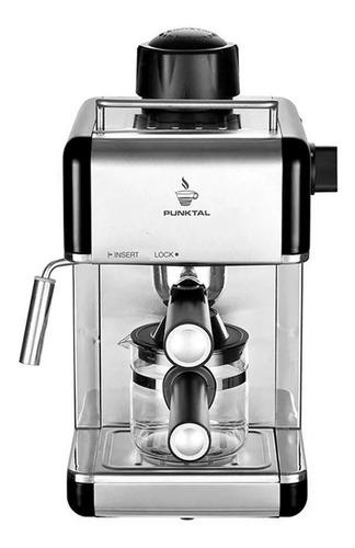 Imagen 1 de 3 de Cafetera Punktal PK-C103 automática negra y acero inoxidable expreso 220V