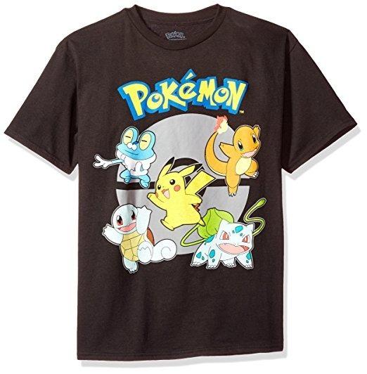 Camiseta Manga Corta Grupo Pokemon Para Niño Talla Mediana