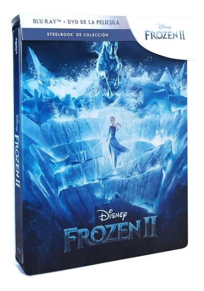 Frozen 2 Dos Steelbook Disney Pelicula Blu-ray + Dvd