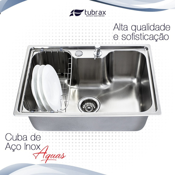 Cuba Inox Cozinha Gourmet Luxo Com Acessórios - Inox 304
