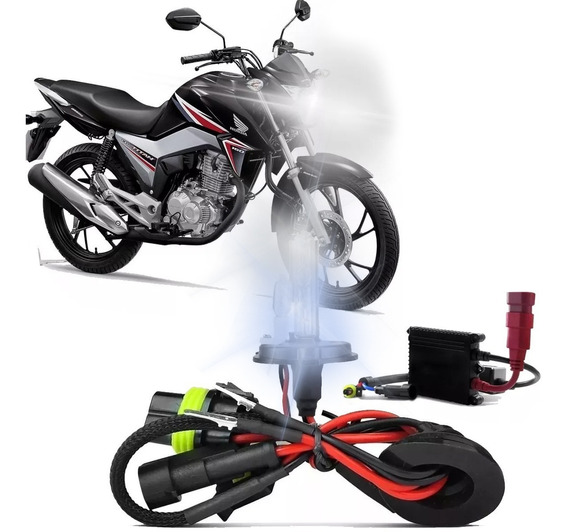 Xenon Lampada H4 Farol Moto Honda Cg Titan 160 Fan 2014/2019