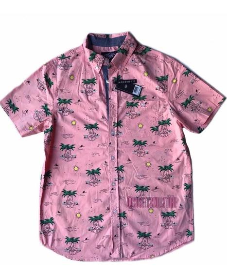 Camisa Tipo Hawaiana Palm Skull