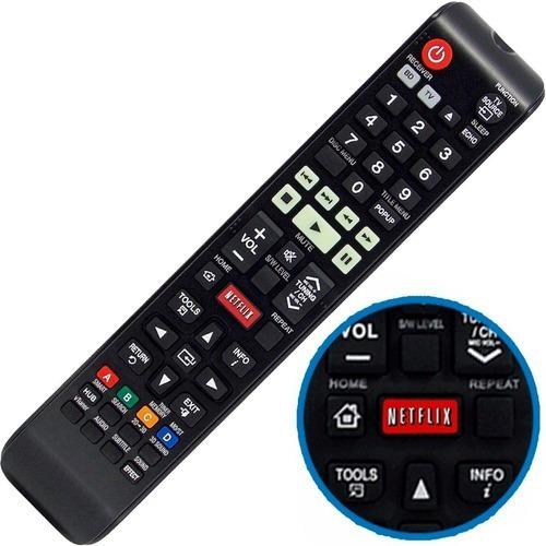 Controle Remoto Home Theater Samsung Netflix Brinde Pilhas