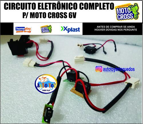 Circuito Completo P/ Motocross 6v X-plast