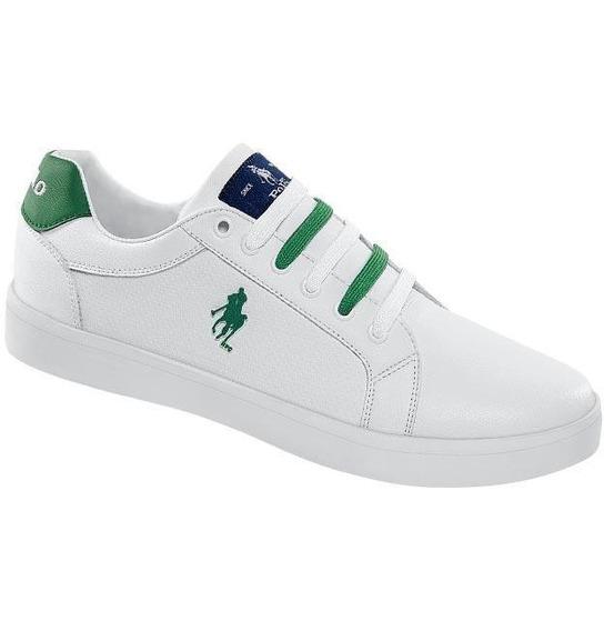 Tenis Caballero Marca Hpc Polo Mod 00 601 Blanco/verde