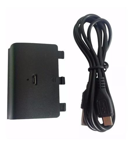 Imagen 1 de 5 de Kit Carga Y Juega Para Control Xbox One Cable Y Batería Tapa