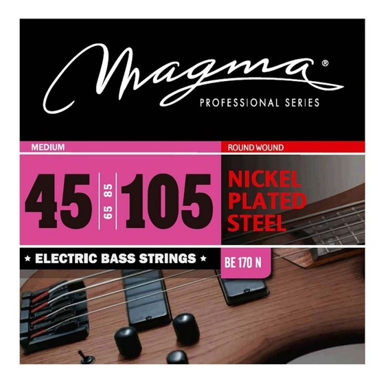 Encordado Bajo Electrico Magma 045 Be170n 4 Cuerdas - Cuotas