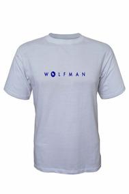Camiseta Wolfman Lobo Branco Vip Branco / Azul