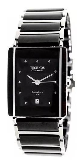 Relógio Technos Cerâmica Safira 1n12acpai/1p Preto Original