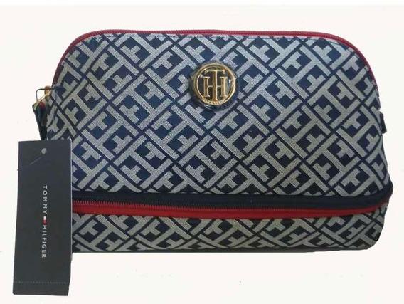 Bolsa Cosmetiquera Tommy Hilfiger Azul Marino Nueva Original