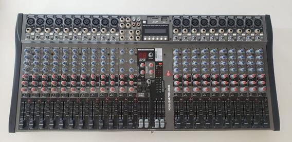 Mesa Analógica De 24ch Com Usb Da K2 Áudio Modelo Km-2406usb
