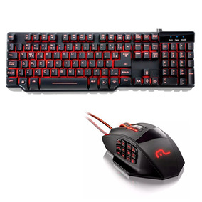 Kit Gamer Teclado Anti-ghosting + Mouse 18 Botões 4000dpi
