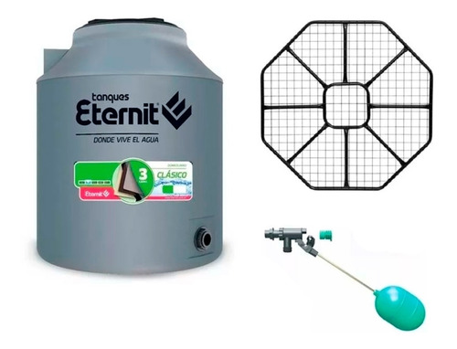 Combo Tanque Agua 1000 Lts Base Metalica Filtro Eternit Agua