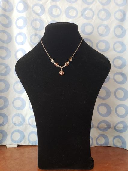 Collar Antiguo De Plata Con Perlas (imitación) Y Cristal