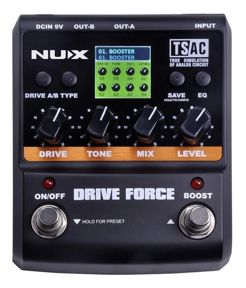 Pedal Drive E Booster Nux Para Guitarra Drive Force.
