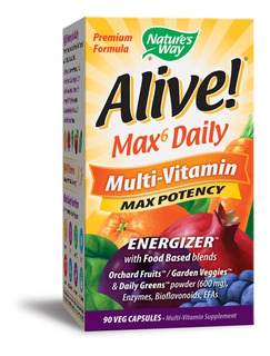 Alive Max6 Diario 90 Caps(importado Usa)envio Imediato!