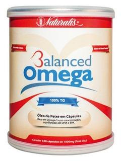 Óleo De Peixe Omega 3 - Naturalis 120 Cáps - Balanced Omega