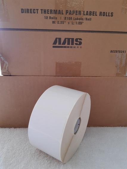 Rollo Etiquetas Dt Ams 2.25 * 1.25 (5.2cm*3.2cm) (15)