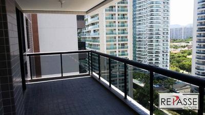 Apartamento Com 3 Dormitórios Para Alugar, 110 M² Por R$ 2.200/mês - Barra Da Tijuca - Rio De Janeiro/rj - Ap1109