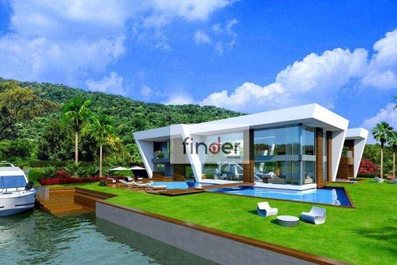 Resort Portobello | Residência Libery Com Arquitetura Moderna E Ousada., Com 6 Suítes, Piscina, Jardim E Canal Navegável Em Angra Dos Reis/rj - Ca0857
