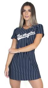 Vestido Los Angeles Camisão Camisa Longline Feminino 2019