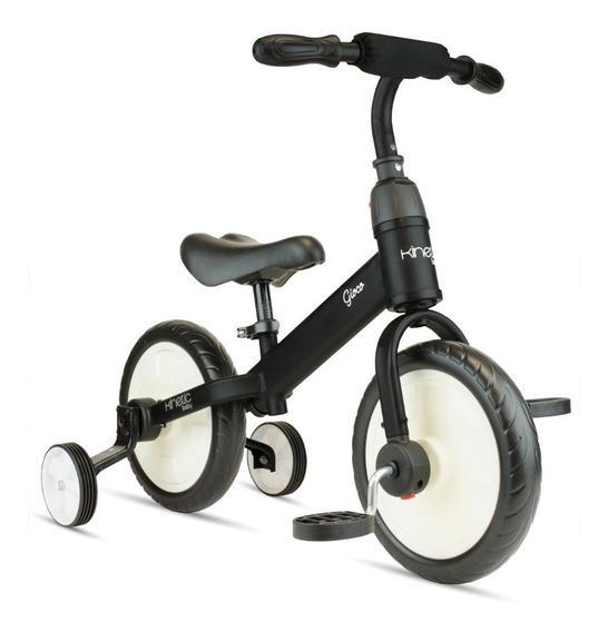 Triciclo Para Niños Patín + Pedales + Ruedas Convertible N/b