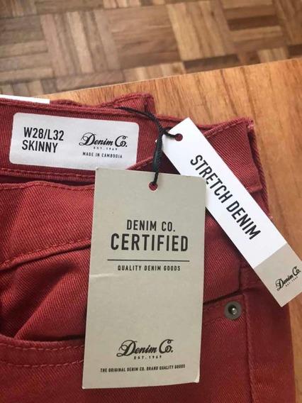 Jean Skinny Color Terracota Primark Nuevo Importado Europa