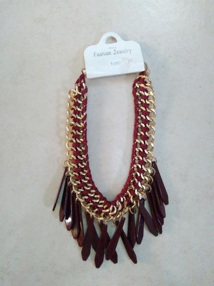Collar Cadena Y Puas