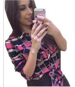 Camisa Blusa Xadrez Feminina Atacado Revenda Camiseta