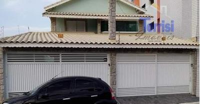 Sobrado Em Praia Grande, 03 Dormitórios Sendo 01 Suite, Com Piscina E Churrasqueira, Na Aviação So0016 - So0016