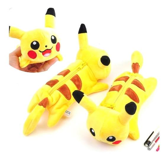 Pikachu Estuche Envio Gratis Escolar Pokemon Lapicera Colore