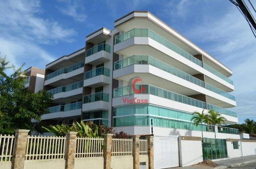 Apartamento Com 3 Dormitórios À Venda, 132 M² Por R$ 600.000,00 - Costazul - Rio Das Ostras/rj - Ap0320