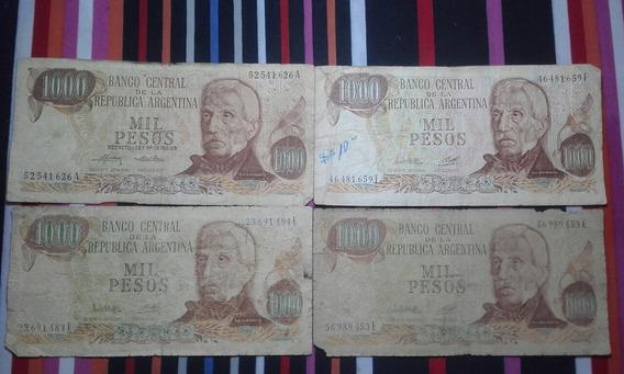 Antiguos Billetes De 1000 Con Marca D Agua X 4 Unid.
