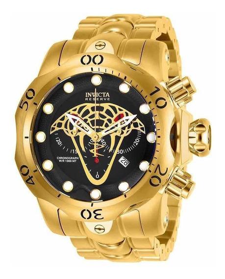 Relógio Masculino Invicta Reserve Venom Ouro 18k