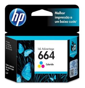 Cartucho De Tinta Hp 664 Color Ink Advantage F6v28ab
