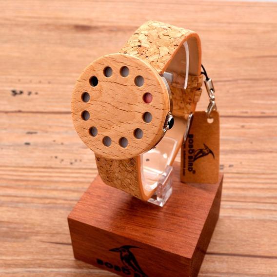 Relógio Unissex Bambu Madeira Bobo Bird C14