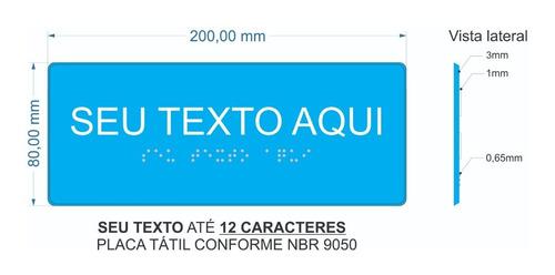 7 Placa Sinalização Visual Tátil Braille E Relevo