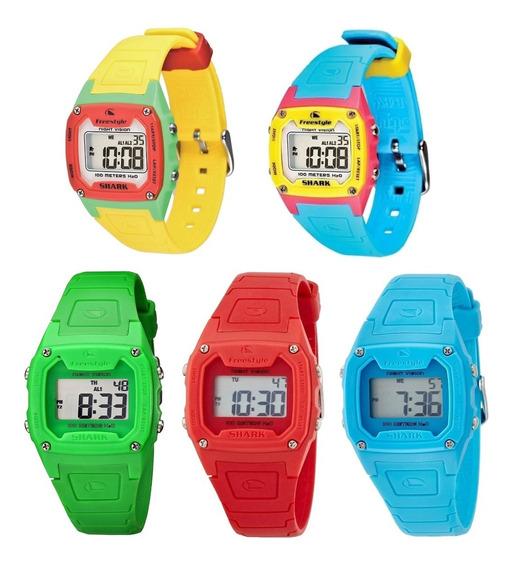Kit 5 Relógios Freestyle Digital Shark Classic Solid