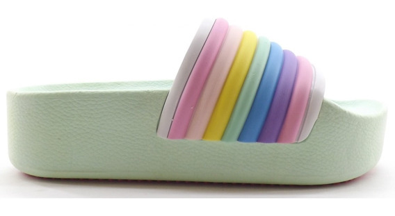 Sandalia Faja Dama Mujer Plataforma Colores Liquidacion 210