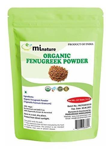 Mi Naturaleza Usda Orgánico Certificado De Fenogreco En Polv
