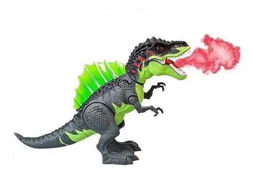 Imagen 1 de 3 de Dinosaurio Electrónico 29cm Lanza Vapor Luces Y Sonido 3330