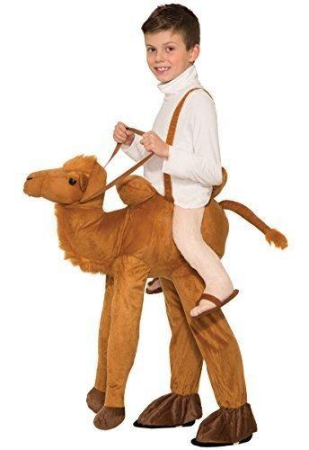 Child Ride Un Traje De Camello