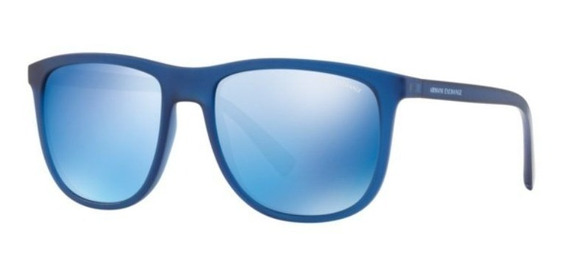 Oculos Sol Armani Exchange Ax4078s 825955 56 Azul Transparen